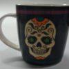 caneca porcelana caveira mexicana